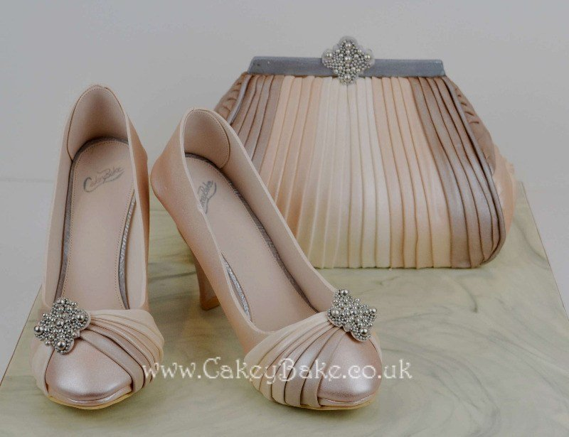 Gold Award Winning Edible Shoes & Handbag Cake