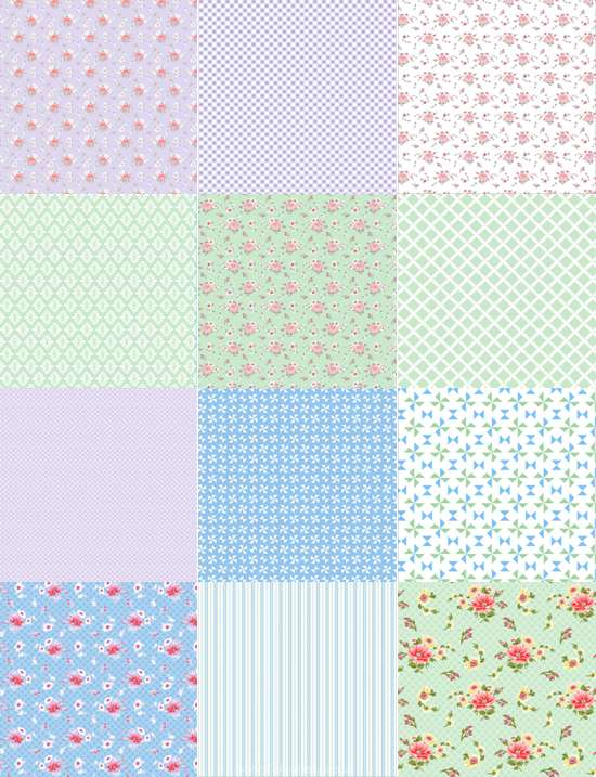 Edible Icing Sheet - Patchwork Blue / Green Design