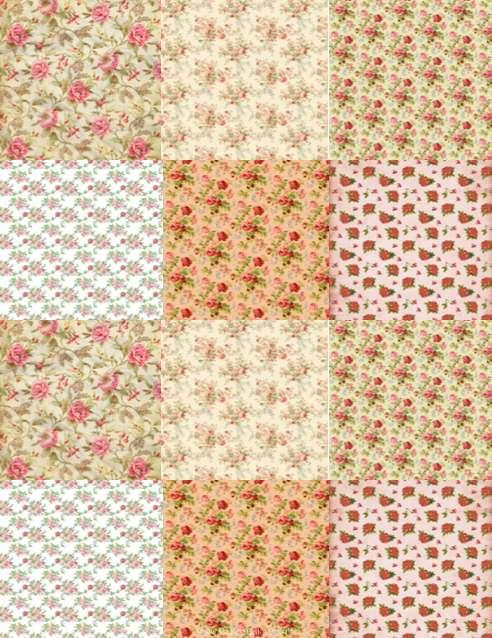 Edible Icing Sheet -Vintage Roses Design