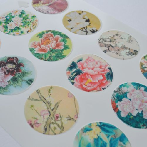 Edible Cupcake Toppers x 12 - Exotic Flowers