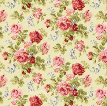 Edible Icing Sheet or Wafer Paper - Vintage Rose Bouquet Design