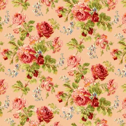 Edible Icing Sheet or Wafer Paper - Vintage Rose Salmon Pink Design