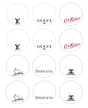 Edible Cupcake Toppers x 12 - Designer Brands
