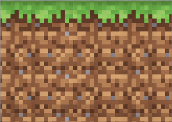 Minecraft Squares Cake Topper Sheet Brown & Green Squares