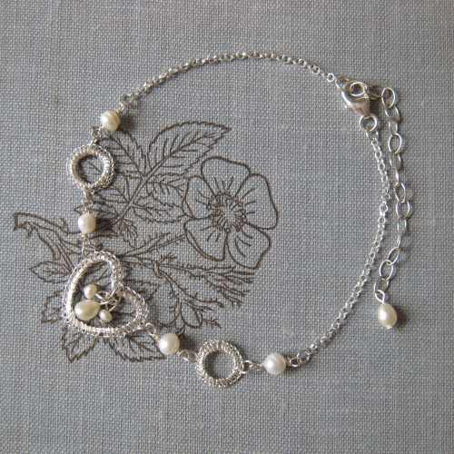 Petite Silver Heart Bracelet