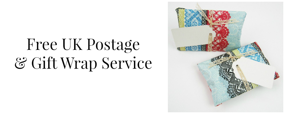 free uk postage and gift wrap