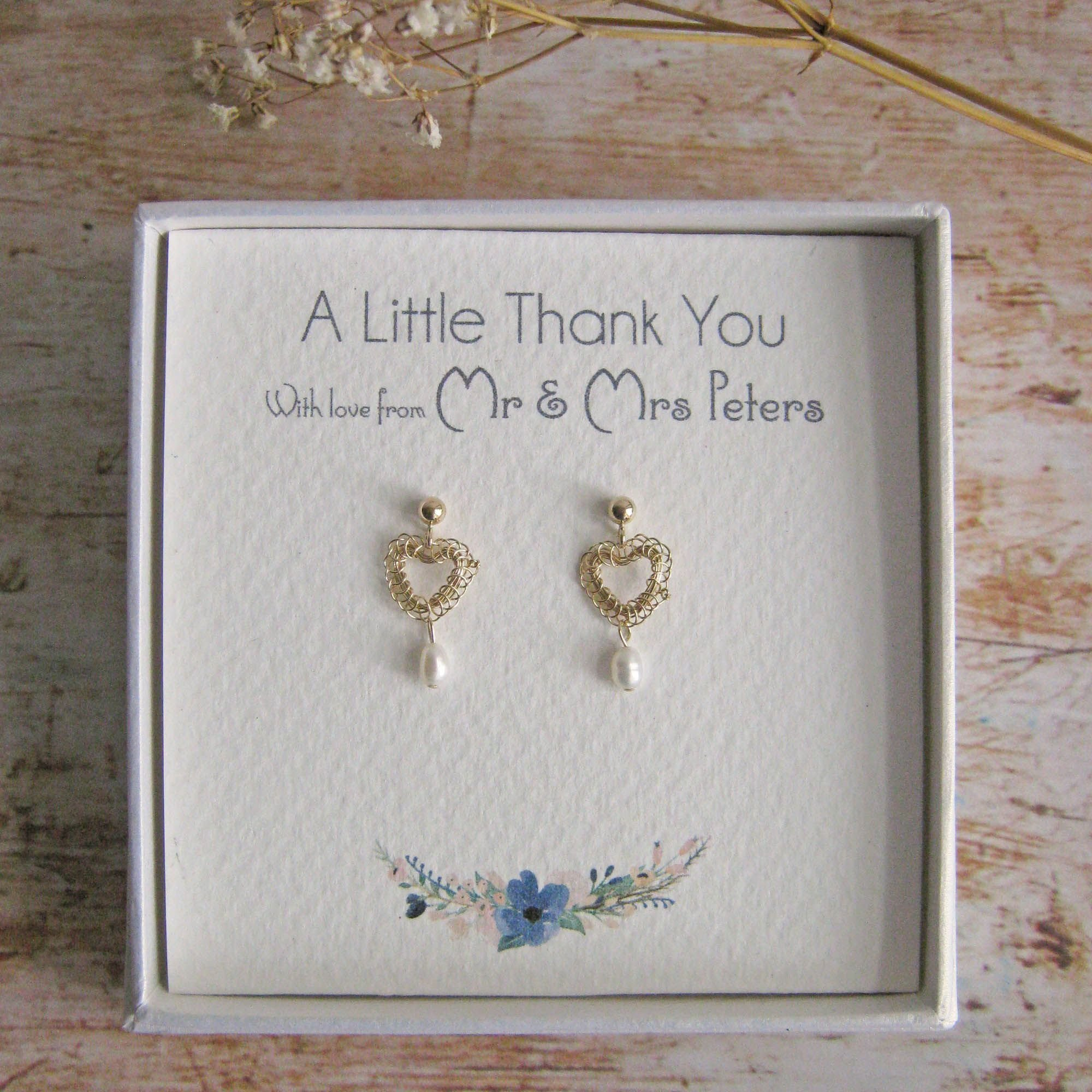 Personalised bridesmaid gifts and wedding thank you gifts