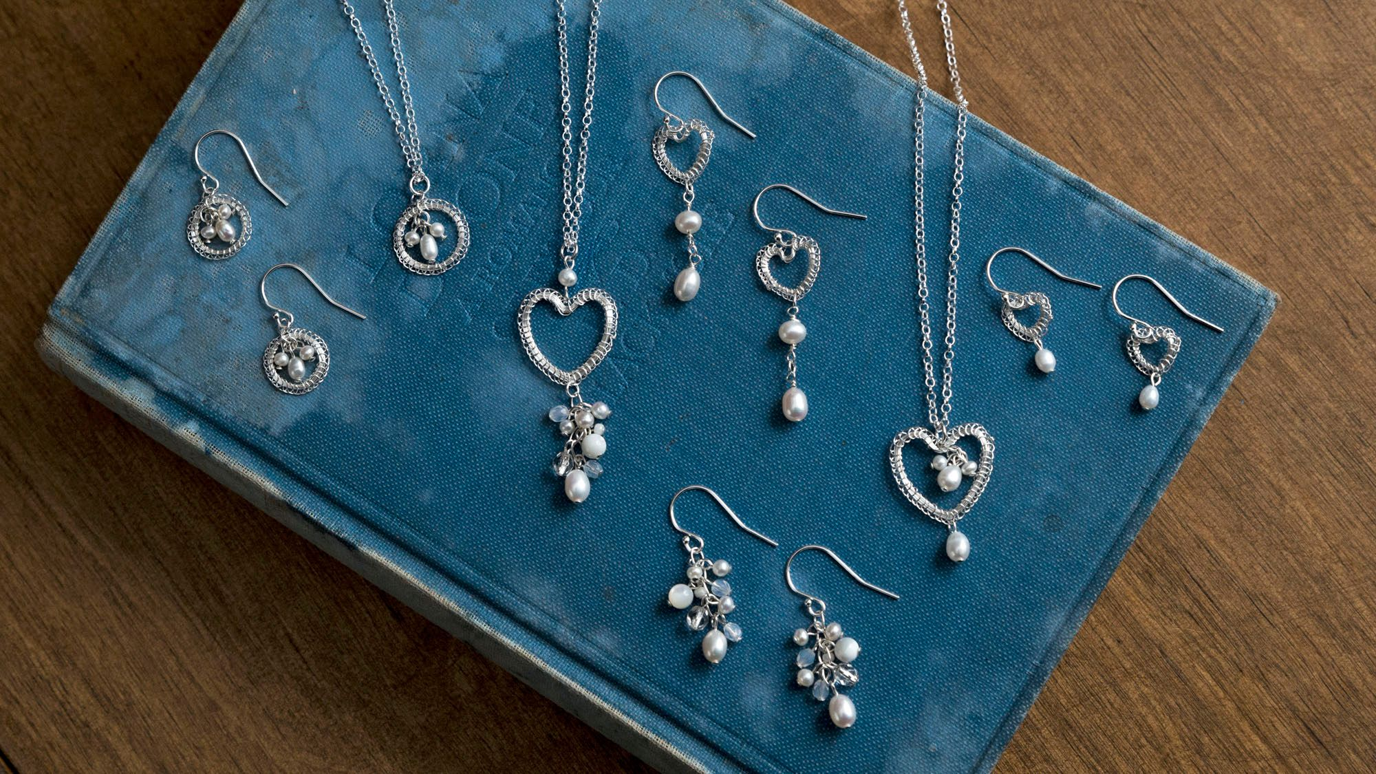 Silver heart jewellery by Judith Brown Jewellery