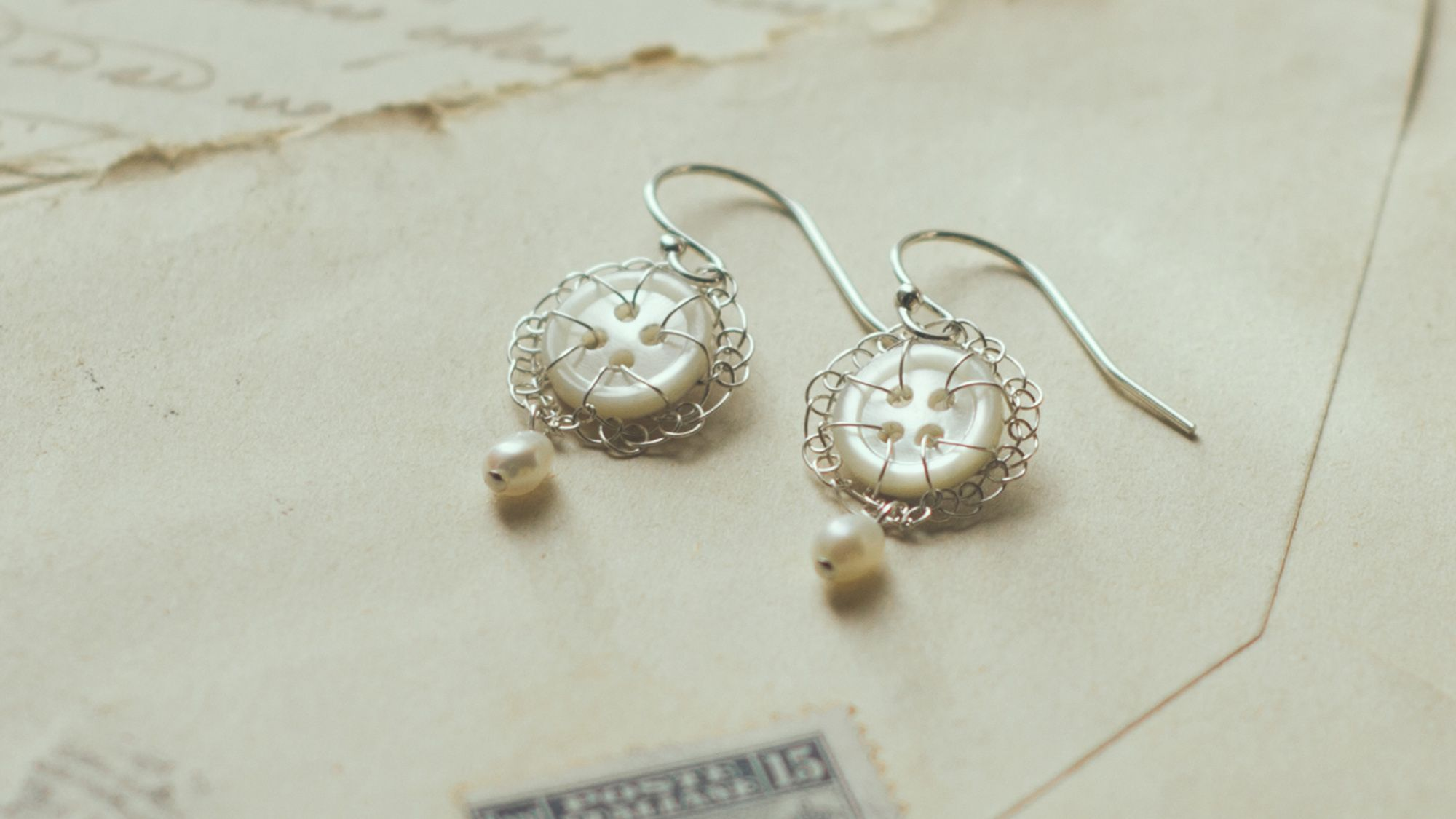 Silver and vintage button jewellery by Judith Brown