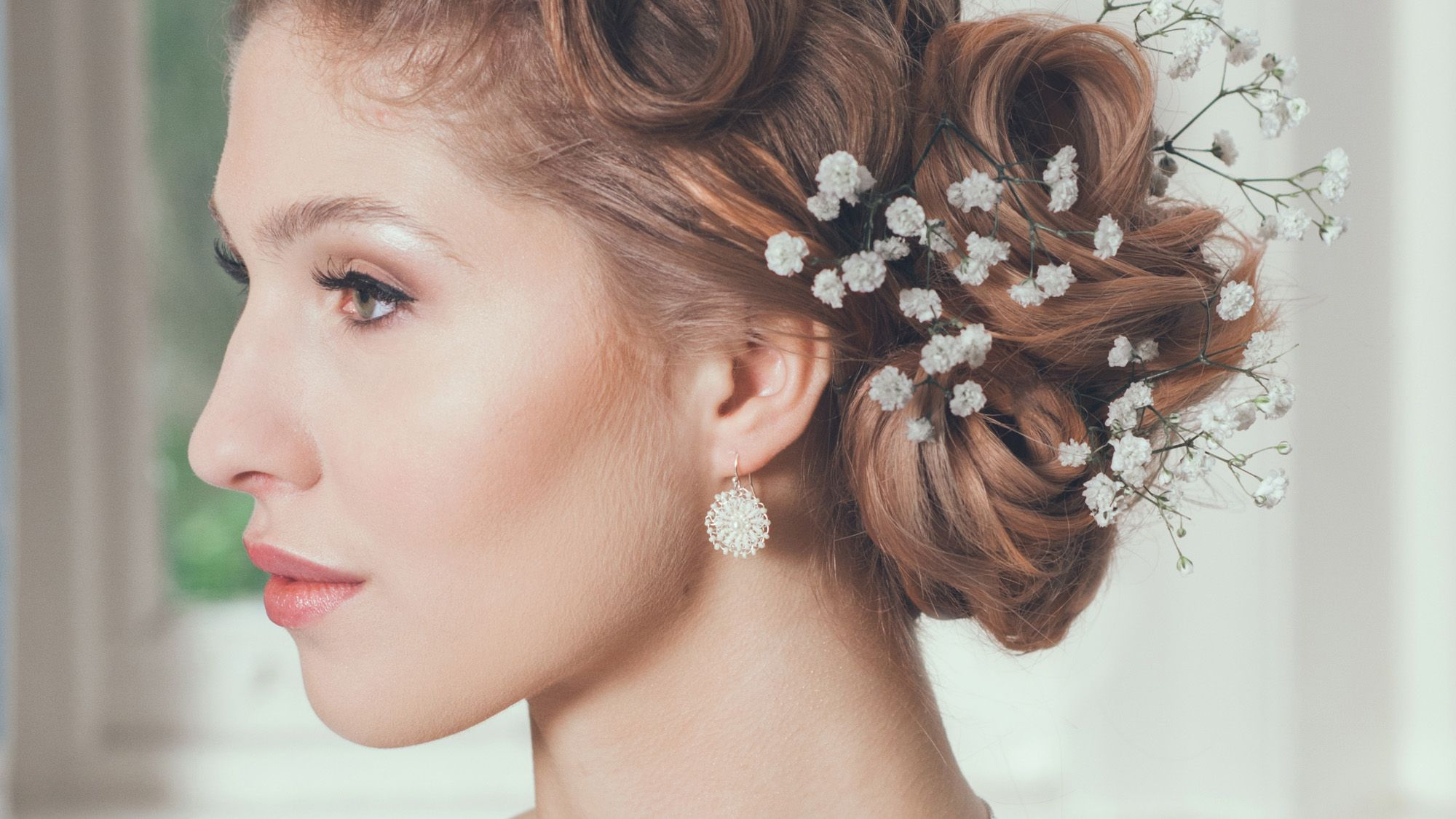 Bridal accessories and jewellery made with silver lace and pearls