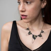 <!-- 001 -->Triangle Statement Necklace in Silver