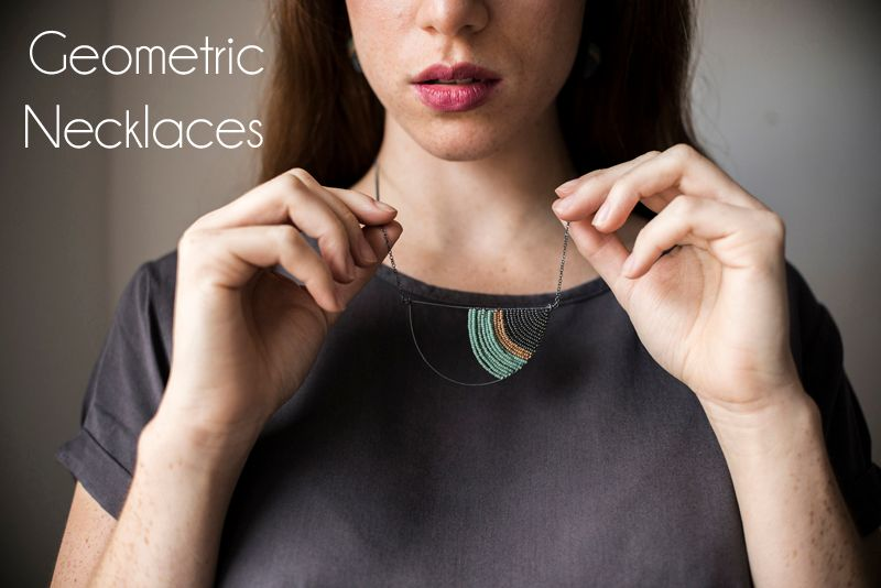 Geometric Necklaces by Judith Brown