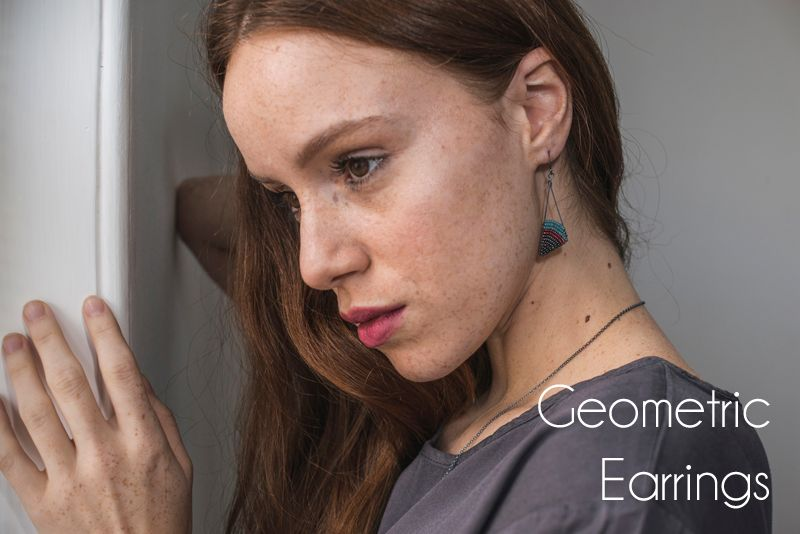 Geometric earrings by Judith Brown