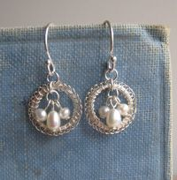 Petite Circlets in Silver with Pearls