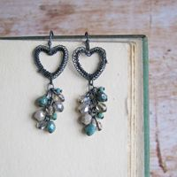 <!-- 001 -->Petite Hearts in Oxidised Silver