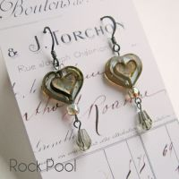 <!-- 003-->Bohemia Glass Heart Earrings - More Colours