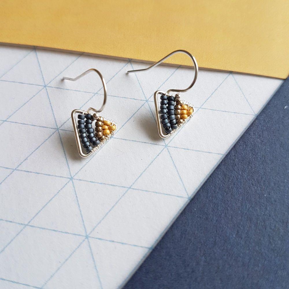 Mini Triangle Earrings - More Colours