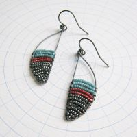 <!-- 003 -->Oxidised Silver Curve Earrings - More Colours