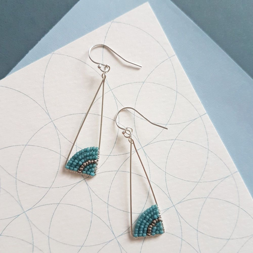 Silver Isosceles Earrings - More Colours