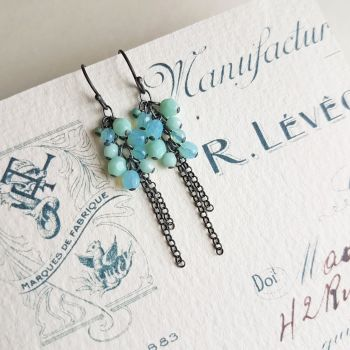 Cluster Drop Opulence Earrings - More Colours