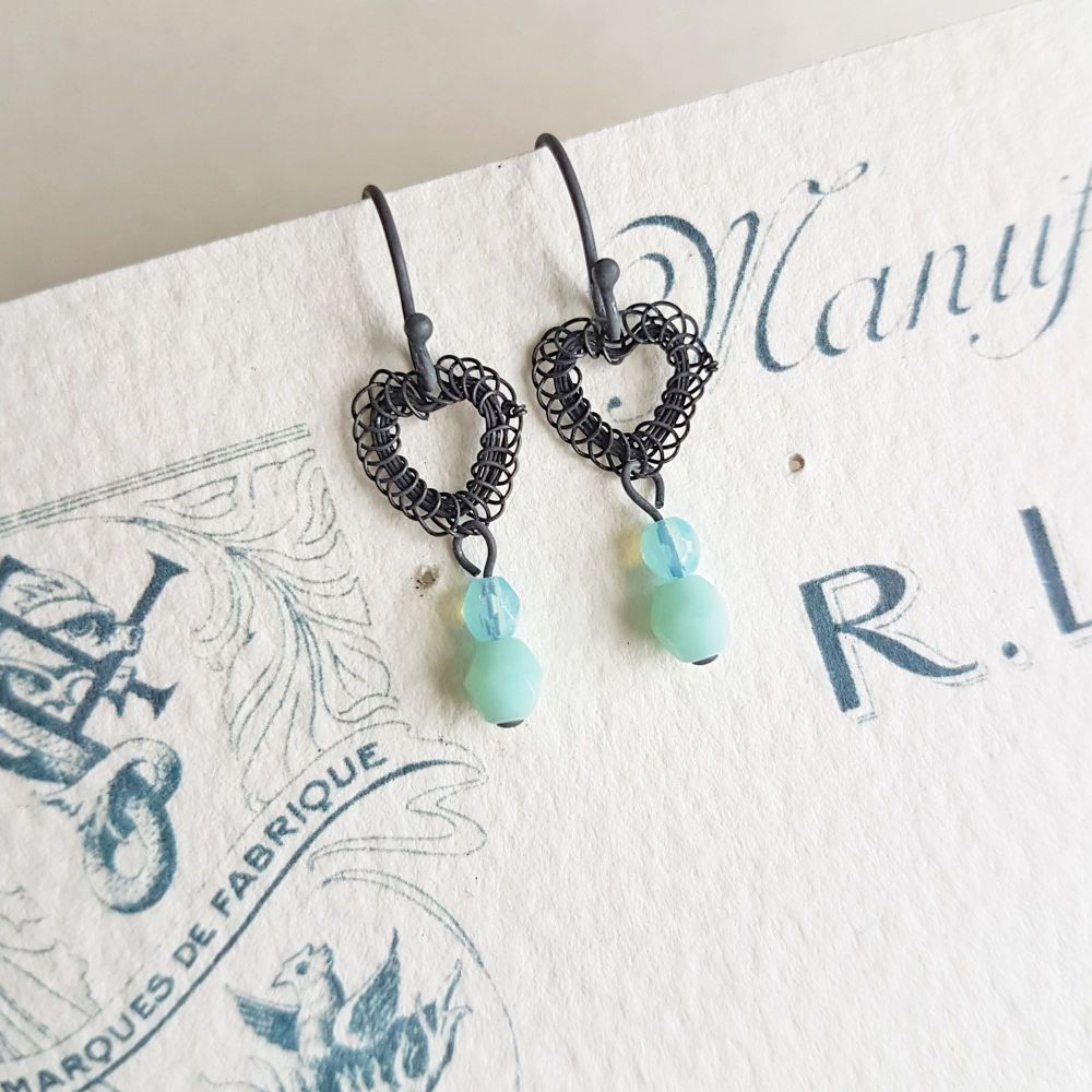 Petite Heart Earrings - More Colours