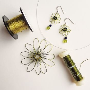 At My Studio - Wire Blooms Two