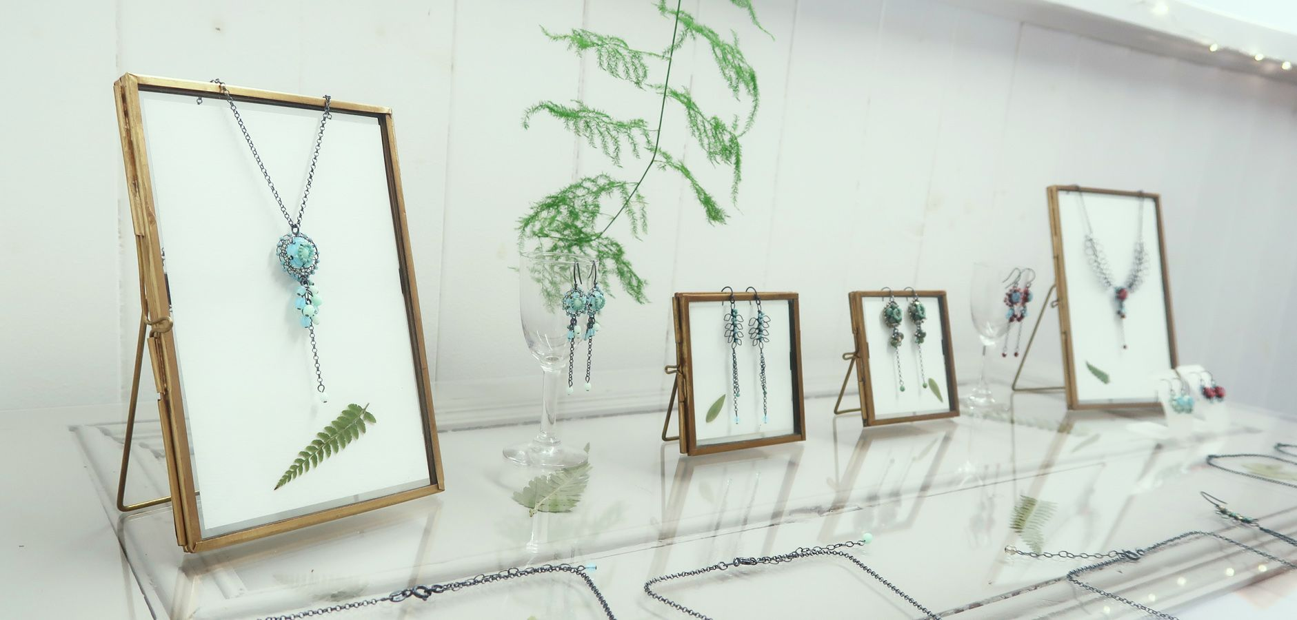 Fern and Leaf Jewellery Display