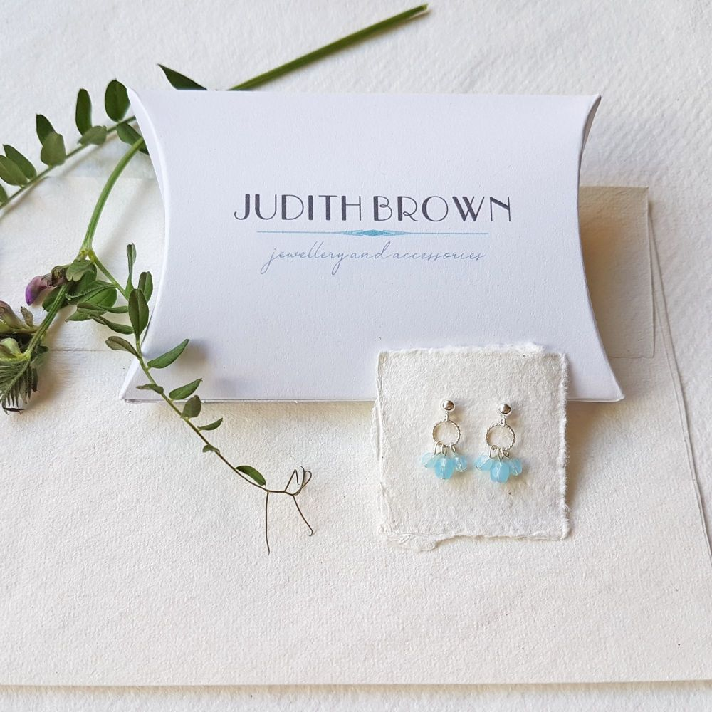 Charm stud earrings in silver - More Colours