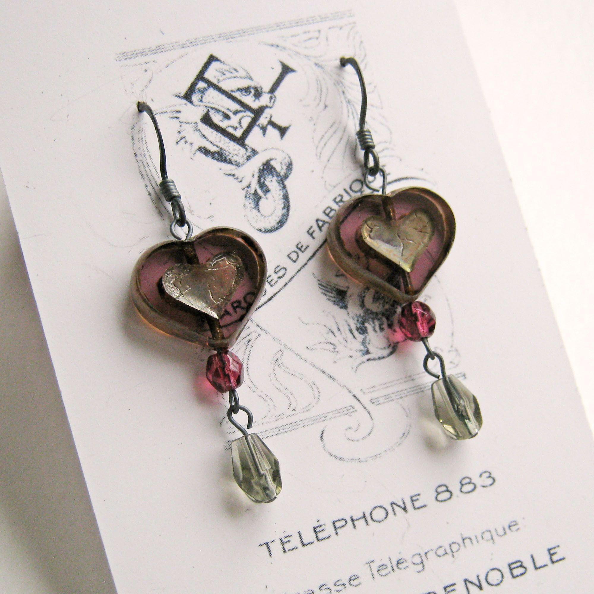 Bohemia heart earrings