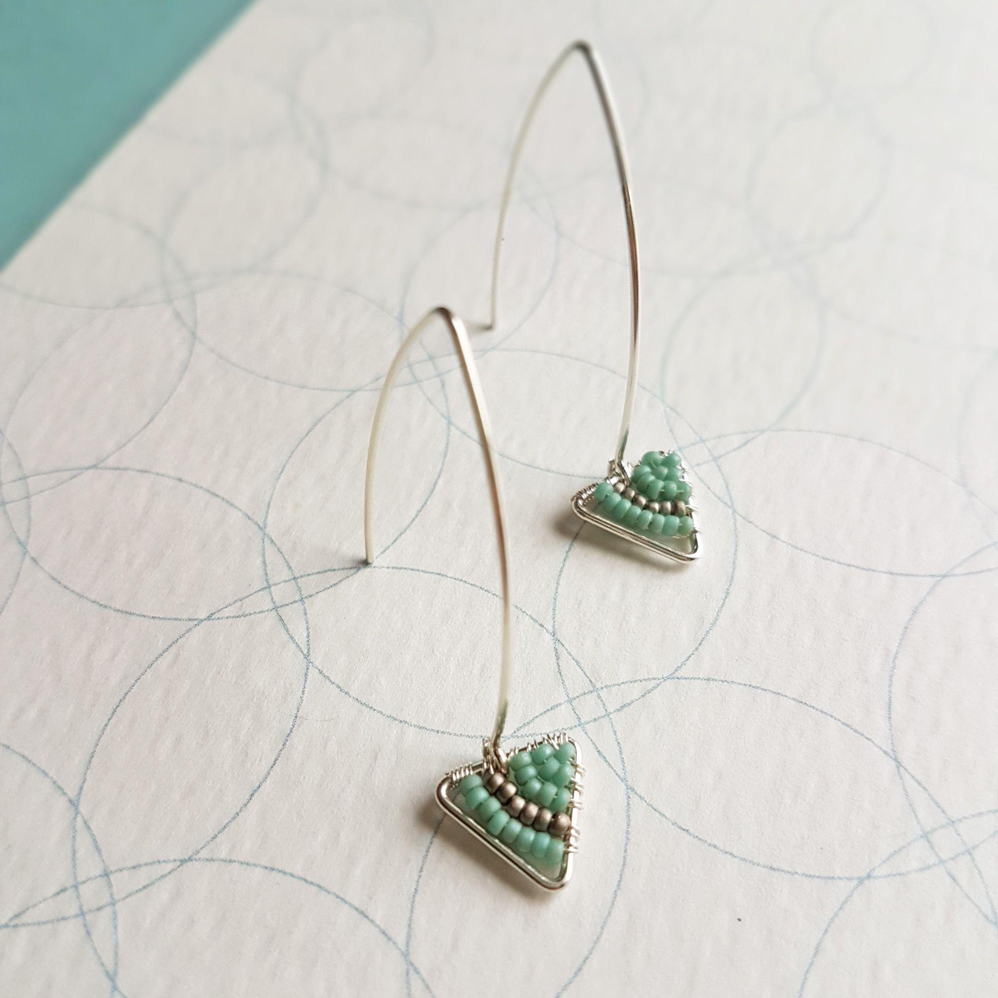 Triangle drop earrings Judith Brown Jewellery