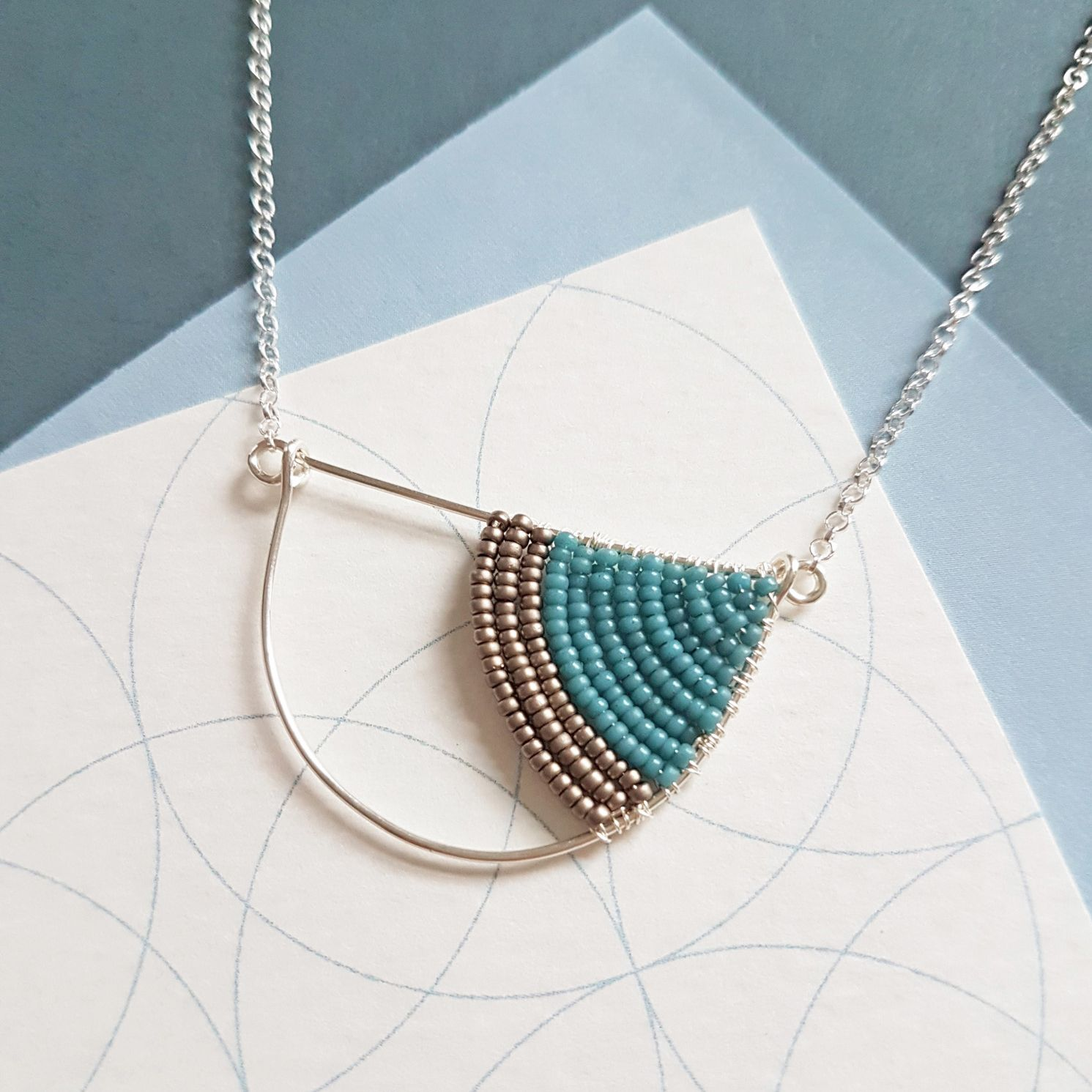 Geometric Silver necklaces Judith Brown