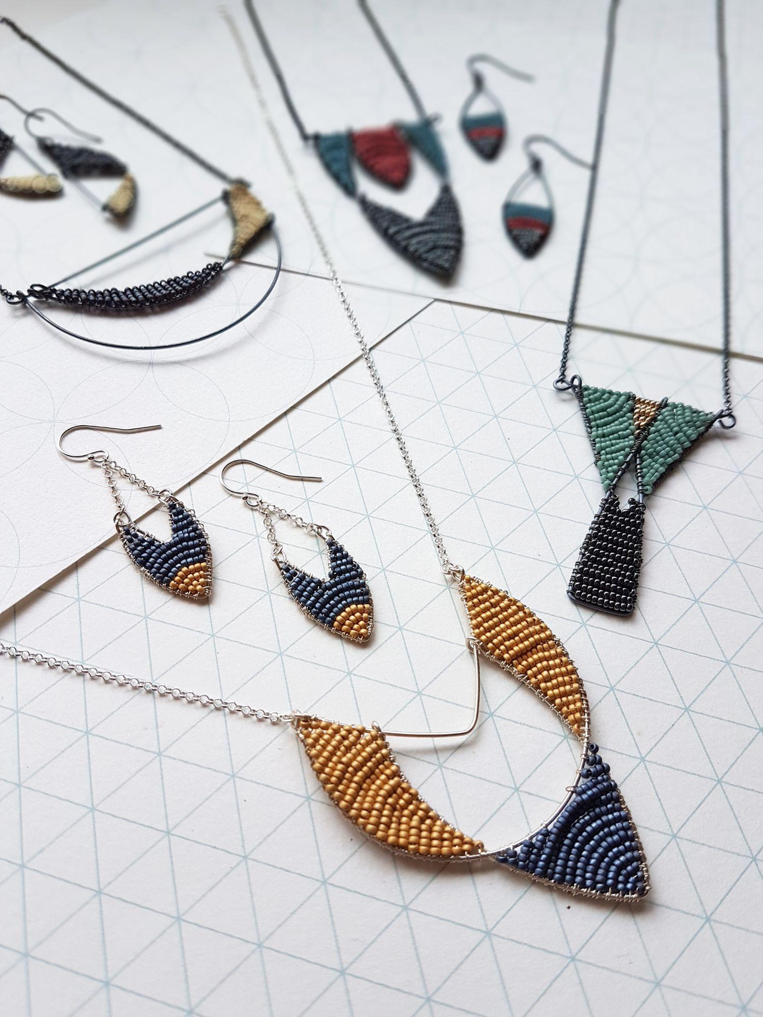 Art Deco Geometric Jewellery by Judith Brown