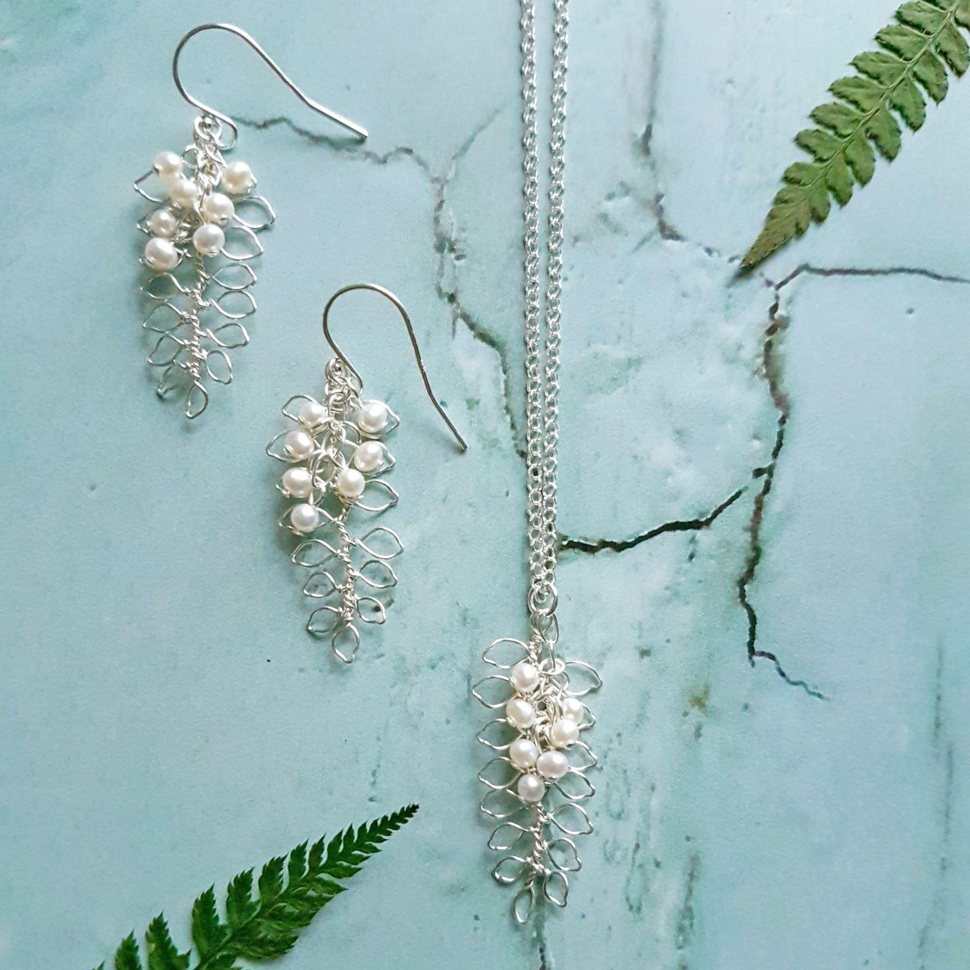 Silver leaf jewellery Judith Brown
