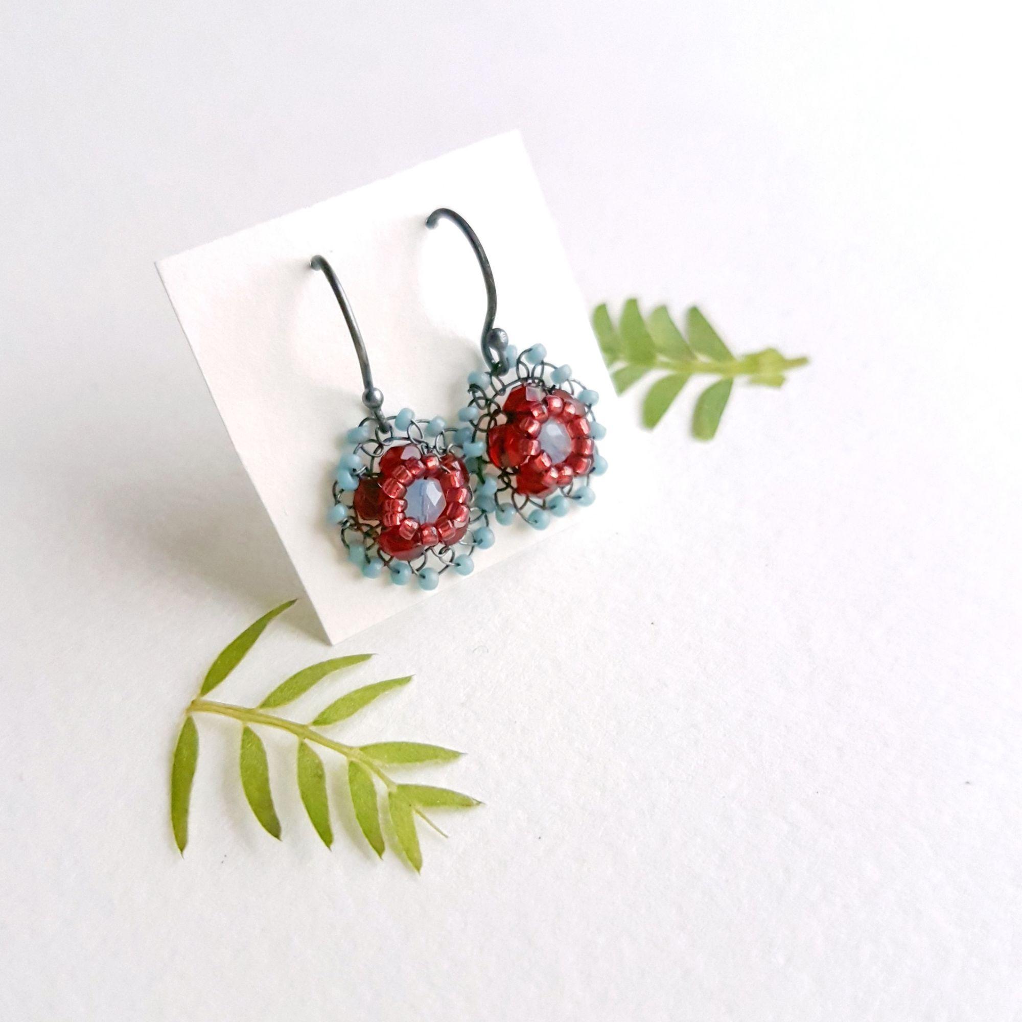 Small flower earrings Judith Brown Jewellery
