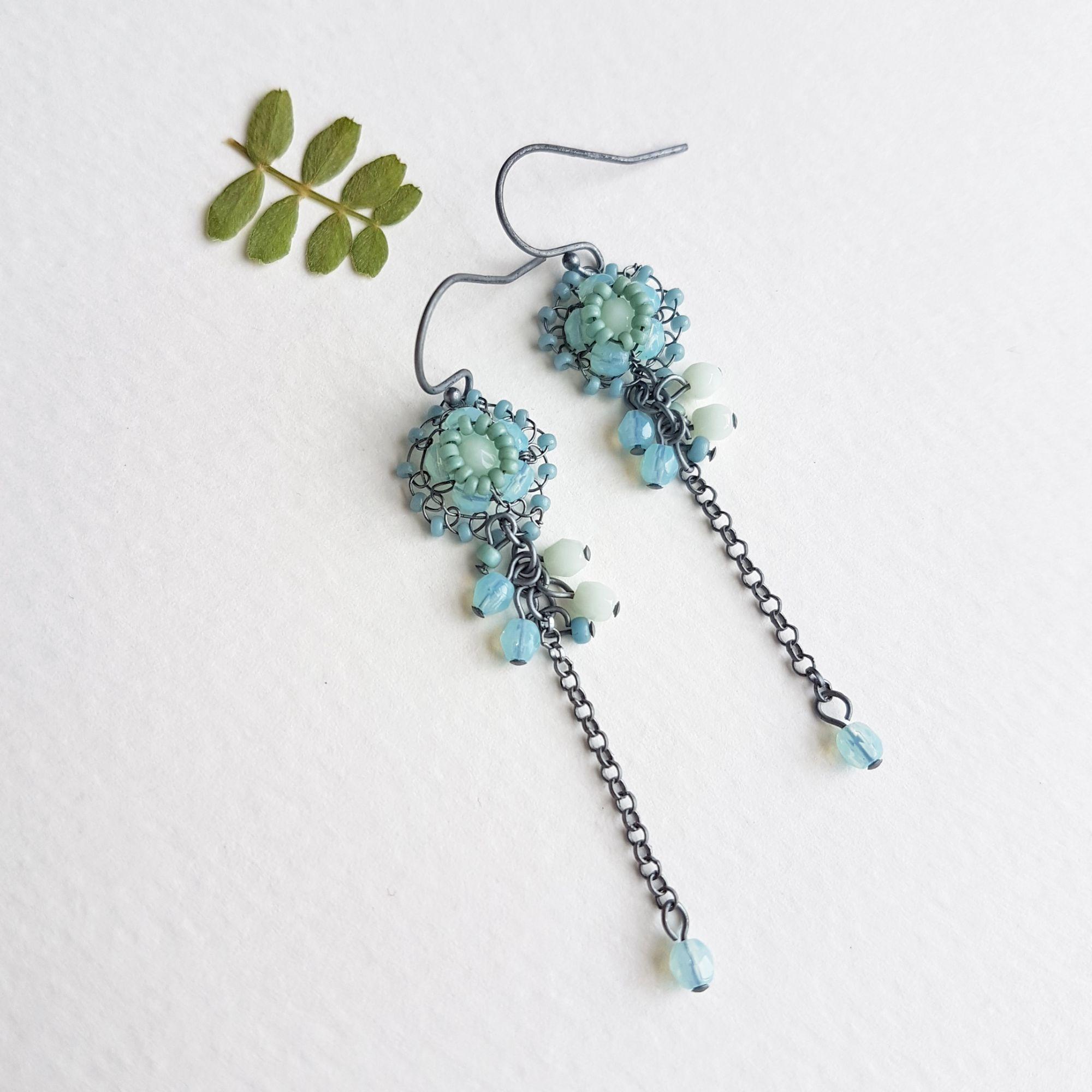 Flower earrings by Judith Brown Jewellery