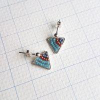 <!-- 001 -->Mini Silver Triangle Earrings - More Colours