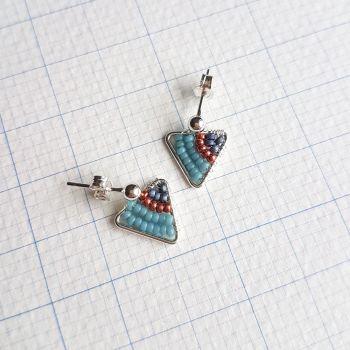 Mini Silver Triangle Earrings - More Colours