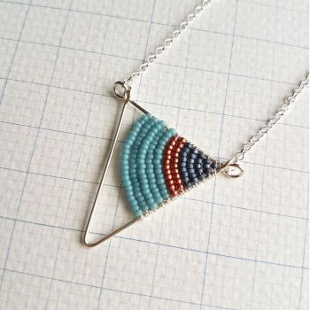 Small Silver Triangle Necklace - More Colours