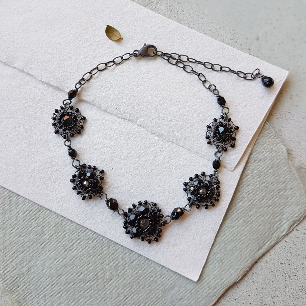 Noir Elegance Bracelet - Black