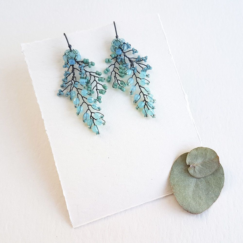 Cascading Leaf Earrings - More Colours