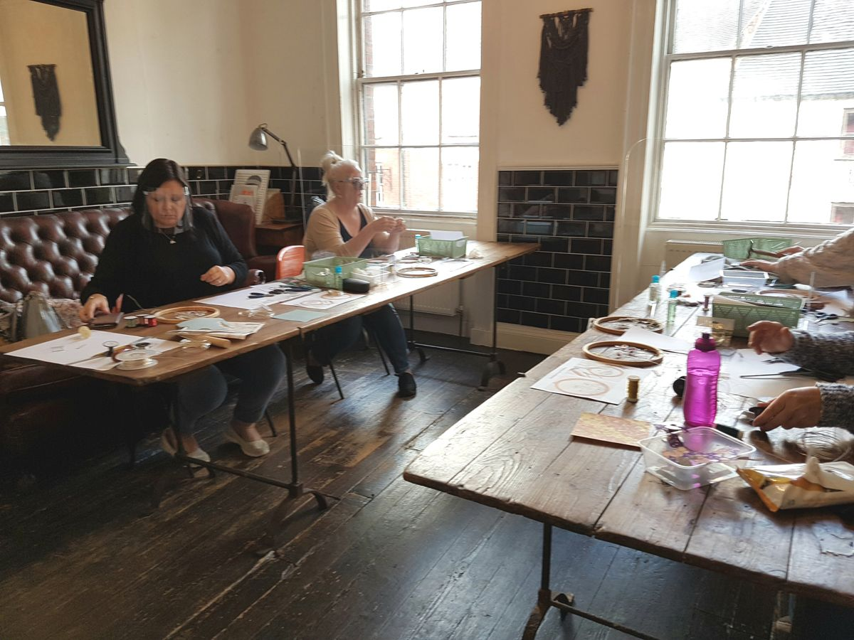 Workshop with covid measures in place
