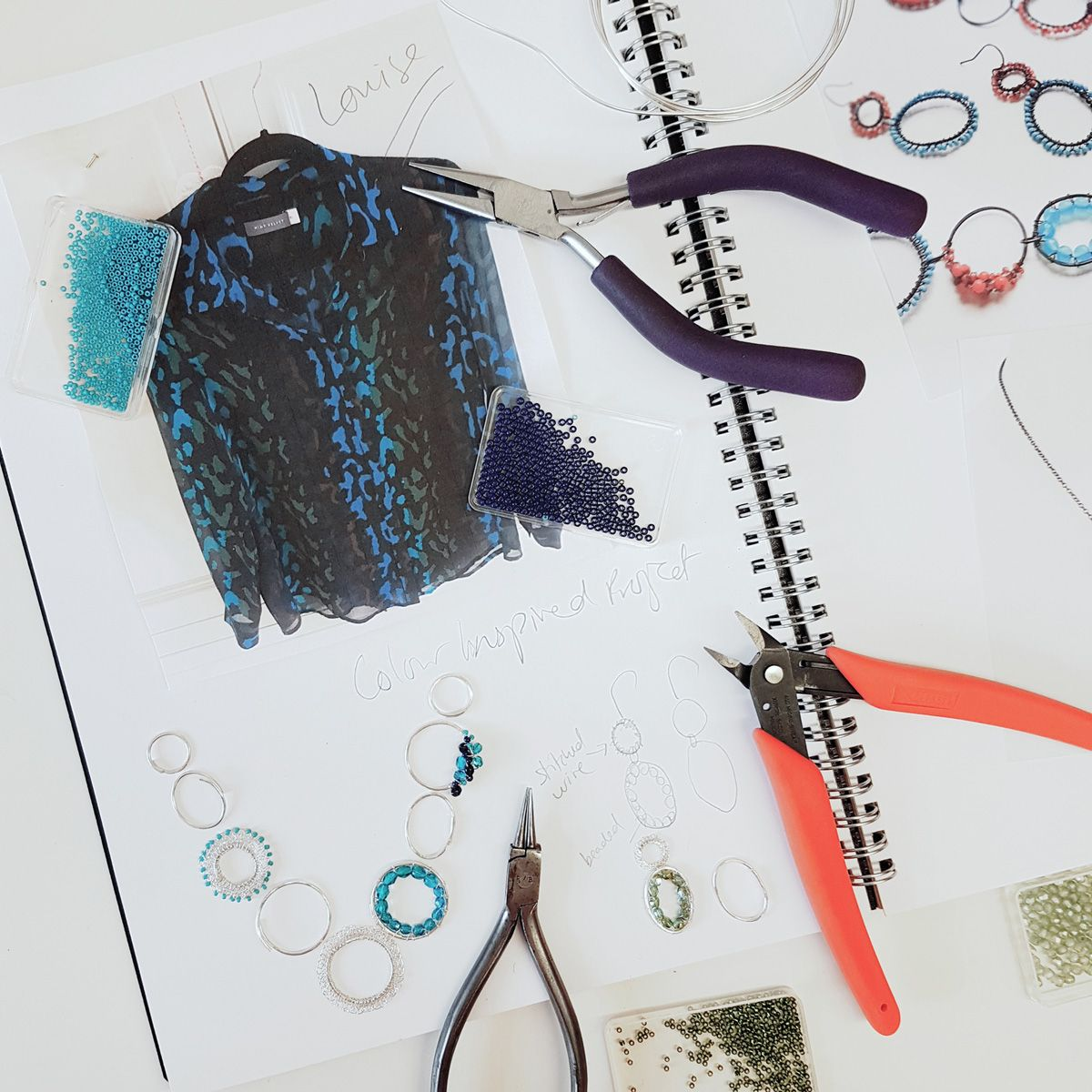 designing a bespoke colour inspired necklace
