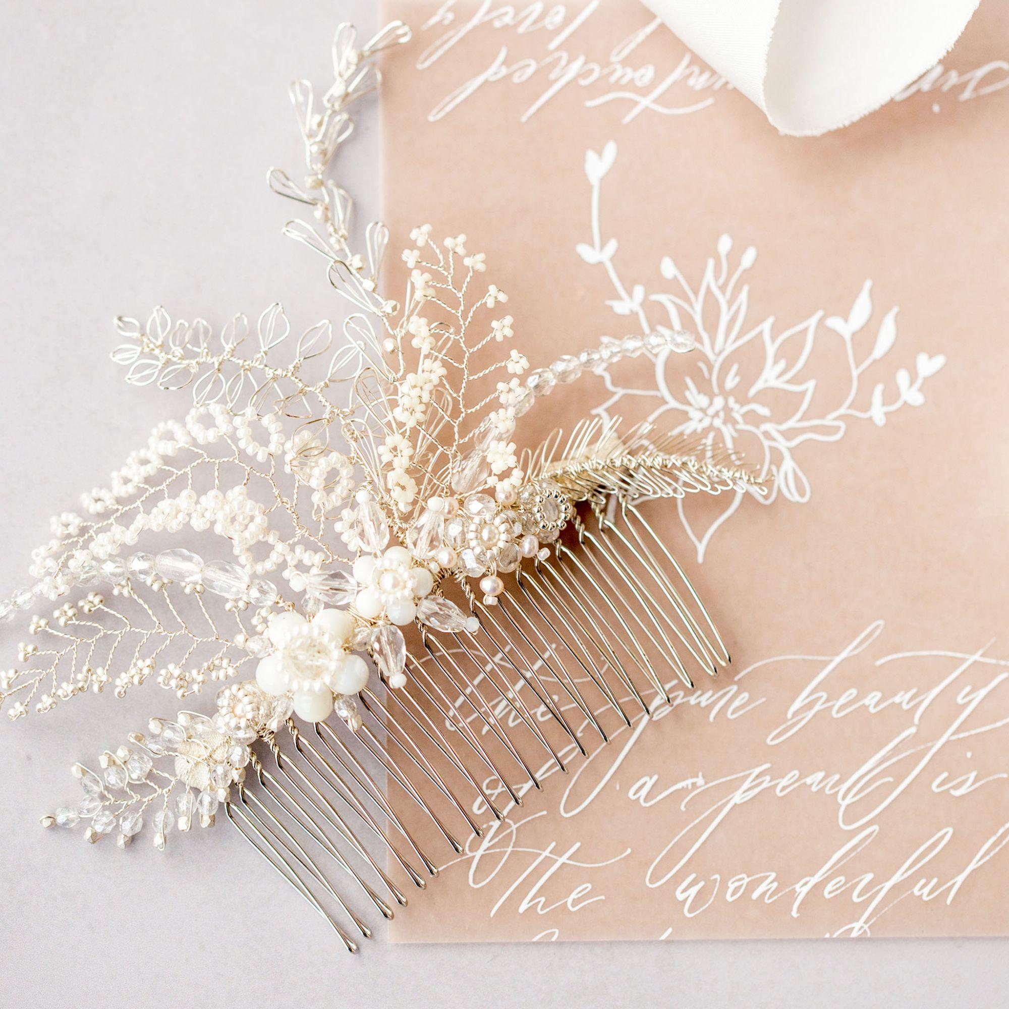 Bridal hair comb by Judith Brown Bridal