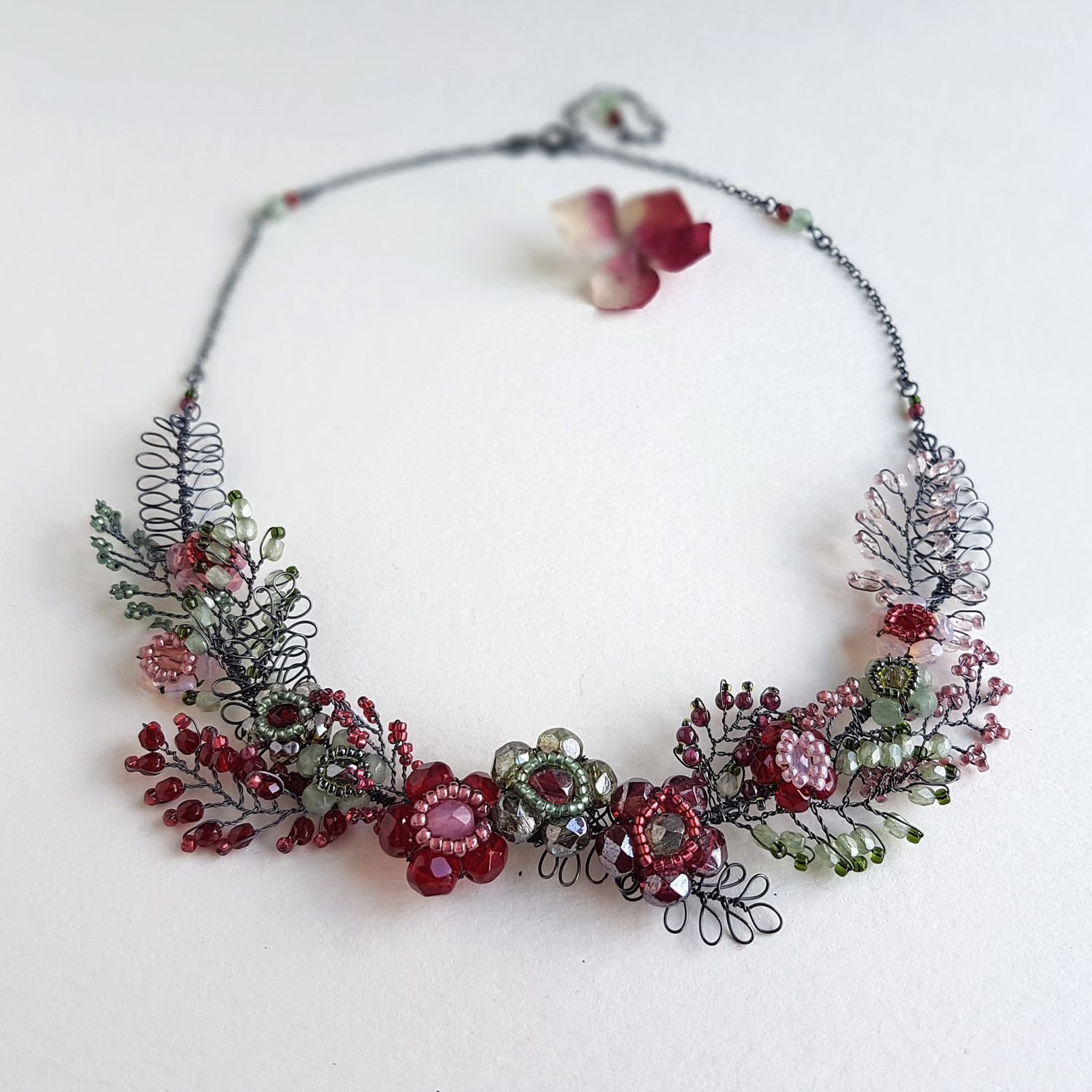 Statement necklace by Judith Brown Jewellery