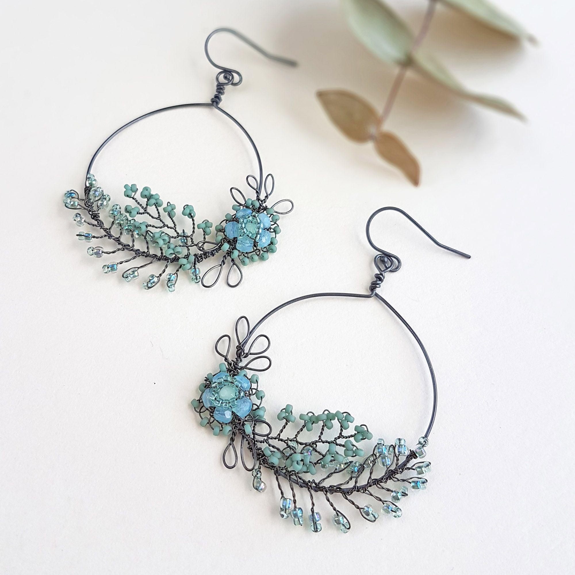 Garland statement earrings by Judith Brown Jewellery