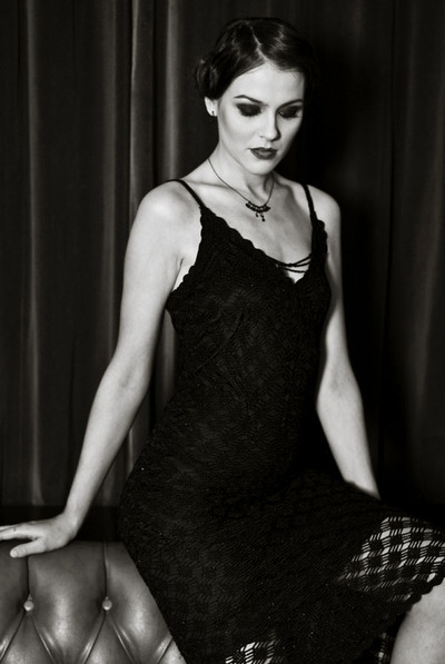 Vintage Noir black and white image