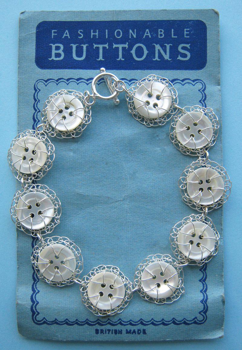 Vintage button full bracelet