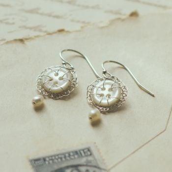 Vintage Petite Earrings with Pearl drop