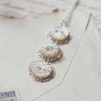 Vintage Petite triple button pendant