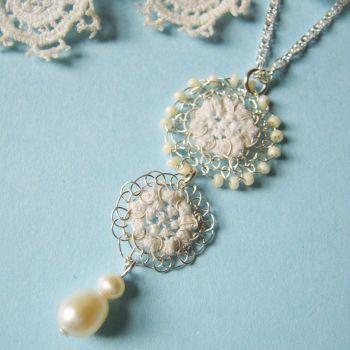 Clara Vintage Lace Pendant